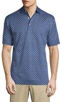 Peter Millar Aran Short-Sleeve Foulard Shirt, Navy
