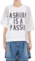 "Sacai Women's ""Fashion Is Passion"" Poplin Top"