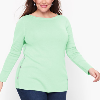 Talbots Side Button Sweater