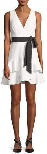 Alexis Olena Sleeveless Belted Flounce Mini Dress