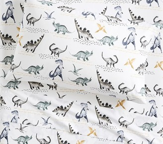 Pottery Barn Kids Organic Jurassic Sheet Set & Pillowcases