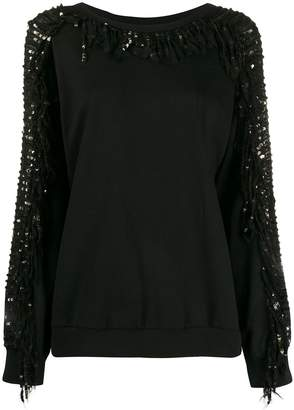 Twin-Set sequin sleeve jumper