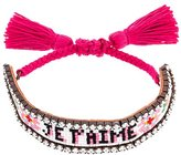 Shourouk 'Je T'aime' tassel bracelet