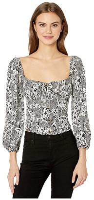 ASTR the Label York Top (Black/White Collage) Women's Clothing