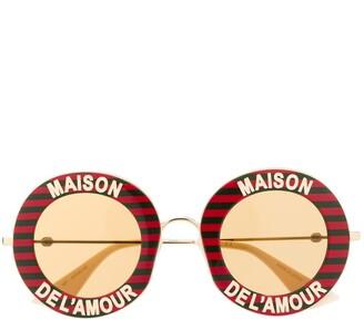 Gucci Maison de L'Amour round sunglasses