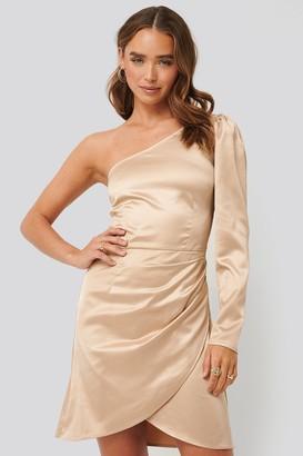 NA-KD One Shoulder Satin Dress