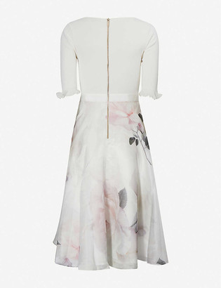 Ted Baker Bouquet-print crepe midi dress