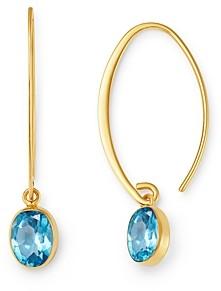 Bloomingdale's Blue Topaz Threader Earrings in 14K Yellow Gold - 100% Exclusive