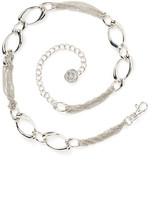 Anne Klein Chain Lion Head Logo Drop Belt