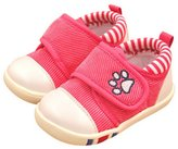 Happy Cherry Infant Baby Girls Anti-slip Soft Sole Prewalker Trainer Baby Velcro Shoes Sneakers