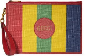 Gucci Baiadera stripe canvas pouch