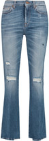 7 For All Mankind Distressed mid-rise bootcut jeans