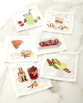 Kim Seybert Holiday Cheers Cocktail Napkins, 6-Piece Set