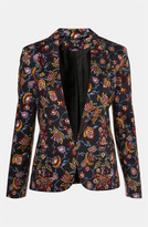 'Tapestry' Floral Print Open Front Blazer