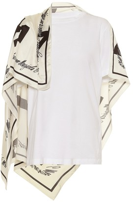 MM6 MAISON MARGIELA Scarf-trimmed cotton T-shirt