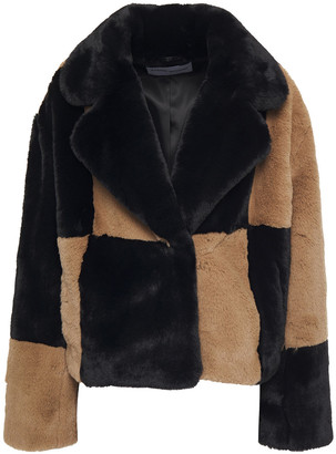 Stand Studio Janet Two-tone Faux Fur Jacket