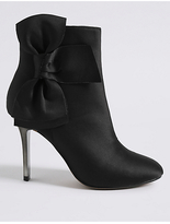 M&S Collection Stiletto Side Zip Bow Ankle Boots