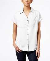 Style&Co. Style & Co Short-Sleeve Denim Shirt, Created for Macy's