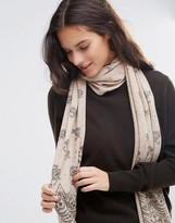 Alice Hannah Scallop Lace Print Scarf