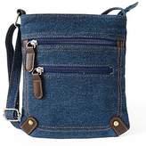 SODIAL(R) women denim messenger bags woman mini small shoulder bag vintage rivet satchels ladies crossbody sling bag bags£ ̈£©