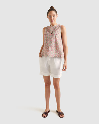 Sportscraft Women's White Shorts - Rosa Linen Blend Shorts - Size One Size, 16 at The Iconic