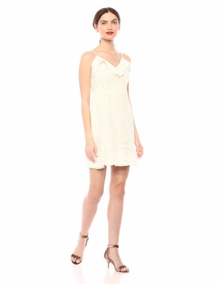 Cupcakes And Cashmere Women's loma lace Dress with Tassel tie Straps