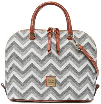 Dooney & Bourke Chevron Dome Satchel