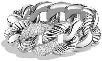 David Yurman Belmont Curb Link Bracelet with Diamonds, 25mm