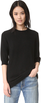 Vince Raw Edge Elbow Sleeve Sweater