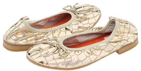 A Line - 6/A0068 (Toddler/Youth) (Gold Croco Leather)