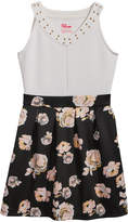 Epic Threads Floral-Print Scuba Skater Dress, Big Girls, Created for Macy's