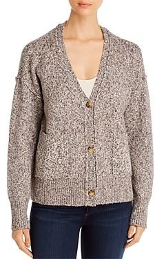 Marled Two-Pocket Cardigan Sweater