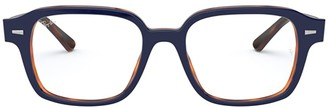 Ray-Ban Rx5382 Top Blue On Havana Red Glasses