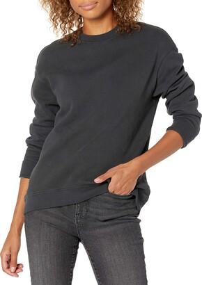 Goodthreads Amazon Brand Women's Heritage Fleece Long Sleeve Crewneck Sweatshirt