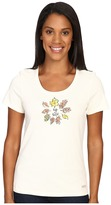 Life is Good Circle Leaves Crusher Scoop Tee