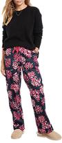 Hush Hydrangea Cotton Pyjama Trousers, Navy/Pink