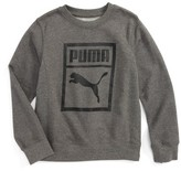 Puma Boy's Heritage Logo Crewneck Sweatshirt