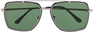 Tom Ford FT0750 square aviator sunglasses