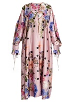 Natasha Zinko Floral-print satin dress