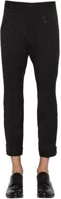 DSQUARED2 Mercury Biker Stretch Wool Cady Pants