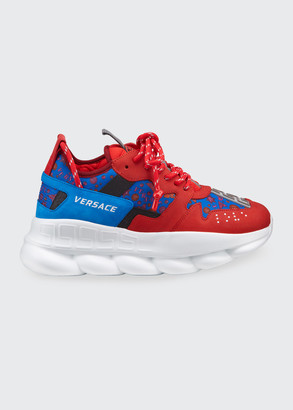 Versace Men's Chain Reaction Chunky Medallion Sneakers