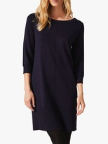 Phase Eight Shiloh Ribbed Hem Dress, Navy
