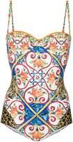 Dolce & Gabbana tile print swimsuit