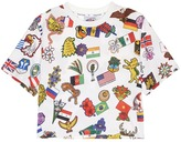 Opening Ceremony Global Varsity cropped T-shirt - Around The World