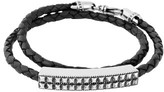 King Baby Studio Men's Leather Wrap Bracelet
