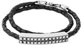 King Baby Studio Men's Leather Wrap Bracelet
