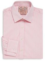 Thomas Pink Striped Cotton Dress Shirt