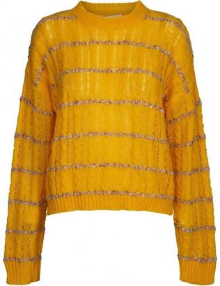 Minus - Inas Sunflower Knit Pullover - XS .   yellow   Acrylic - Yellow/Yellow