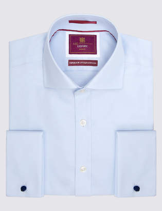 M&S Collection LuxuryMarks and Spencer Pure Cotton Non-Iron Slim Fit Shirt