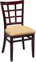 Regal Beechwood Lattice Back Standard Seat Upholstered Dining Chair